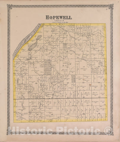 Historic 1870 Map - Atlas of Marshall Co. and The State of Illinois - Hopewell - Atlas of Marshall County and The State of Illinois