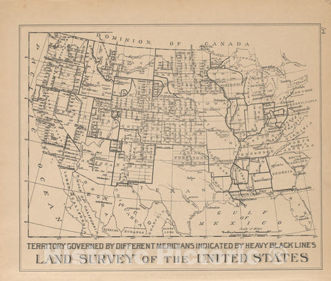 Historic 1904 Map - Plat Book of Huron County, Michigan - Land Survey of The United States