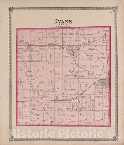 Historic 1870 Map - Atlas of Marshall Co. and The State of Illinois - Evans - Atlas of Marshall County and The State of Illinois