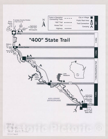 "Map : Wisconsin Date unknown, [Wisconsin state parks , forests, recreation areas & trails maps]. |""400