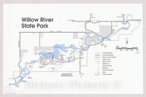 Map : Willow River State Park, Wisconsin , [Wisconsin state parks , forests, recreation areas & trails maps], Antique Vintage Reproduction