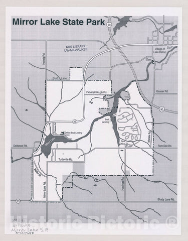 Map : Mirror Lake State Park, Wisconsin , [Wisconsin state parks , forests, recreation areas & trails maps], Antique Vintage Reproduction
