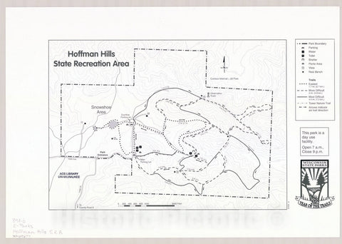Map : Hoffman Hills State Recreation Area, Wisconsin , [Wisconsin state parks , forests, recreation areas & trails maps], Antique Vintage Reproduction