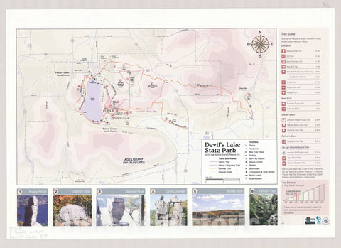 Map : Devil's Lake State Park , Wisconsin , [Wisconsin state parks , forests, recreation areas & trails maps], Antique Vintage Reproduction