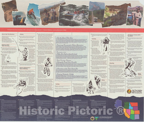 Map : United States, western 1993 1, BLM national recreation guide : [western United States and Alaska] , Antique Vintage Reproduction