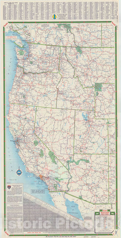 Map : United States, western 1959 1, Western United States including Alaska , Antique Vintage Reproduction