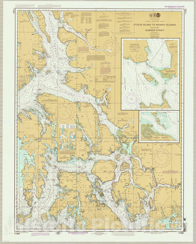 Map : Alaska, southeast 2013, United States, Alaska--southeast coast, Etolin Island to Midway Islands, including Sumner Strait , Antique Vintage Reproduction