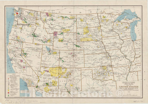 Map : United States, western 1929, Part of United States west of the Mississippi River : showing activities of Bureaus of the Department of the Interior