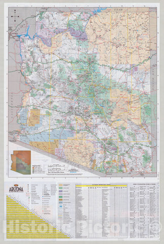 Map : Arizona 2010, Arizona, the Grand Canyon state : official state visitor's map , Antique Vintage Reproduction