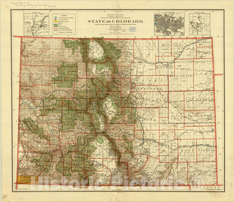 Map : Colorado 1905, State of Colorado : compiled from the official records of the General Land Office and other sources under the direction of Frank Bond