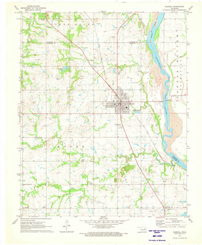 1971 Haskell, OK - Oklahoma - USGS Topographic Map