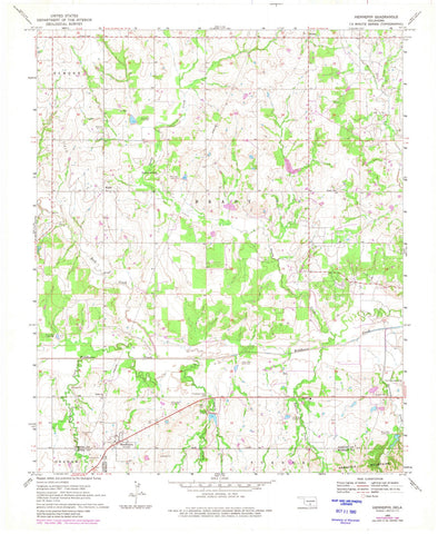 1969 Hennepin, OK - Oklahoma - USGS Topographic Map