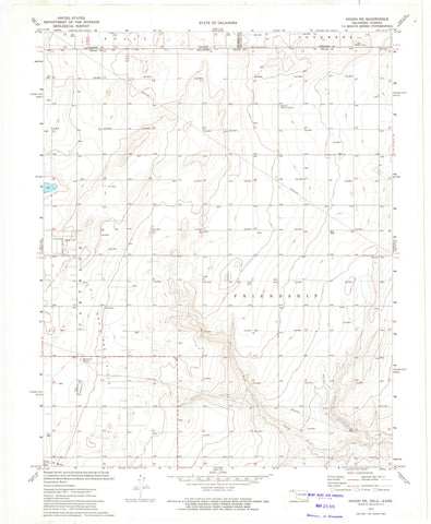 1973 Hough, OK - Oklahoma - USGS Topographic Map