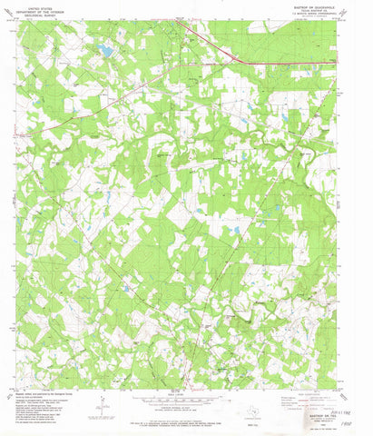 1982 Bastrop, TX - Texas - USGS Topographic Map v2