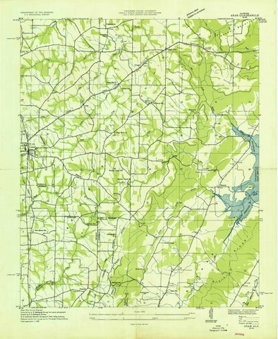 1936 Arab, AL - Alabama - USGS Topographic Map v2
