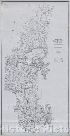 Historic Map : State of Maine  Somerset County, 1976 , Vintage Wall Art