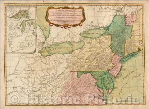 Historic Map - Middle Dominions Belonging to the United States of America, viz. Virginia, Maryland, The Delaware-Counties, Pennsylvania, 1794 v1