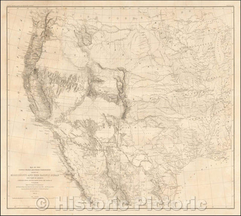Historic Map - Map of the United States and Their Territories Between the Mississippi and the Pacific Ocean and Part of Mexico, 1858, William Hemsley Emory v1
