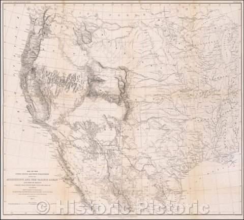 Historic Map - Map of the United States and Their Territories Between the Mississippi and the Pacific Ocean and Part of Mexico, 1858, William Hemsley Emory v2