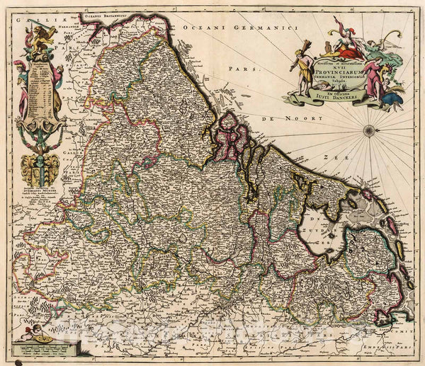 Historic Map : XVII Provinciarum Germania Inferior., 1716, Vintage Wall Decor