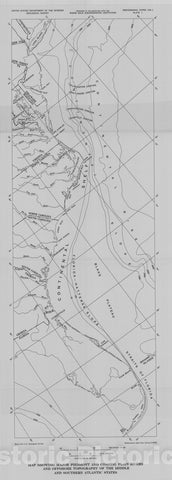 Map : Atlantic continental shelf and slope of the United States - petrology of the sand fraction of sediments, northern New Jersey to southern Florida, 1972 Cartography Wall Art :