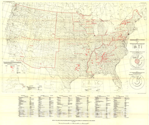 Map : Iron-ore resources of the United States, including Alaska and Puerto Rico, 1955, 1962 Cartography Wall Art :