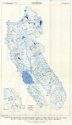 Map : Surface water supply of the United States, 1961-65, Part 11. Pacific slope basins in California, Volume 2. basins from Arroyo Gran, 1970 Cartography Wall Art :