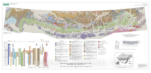 Map : Preliminary integrated geologic map databases for the United States:  digital data for the geology of the southern Brooks Range, Alaska, 2008 Cartography Wall Art :