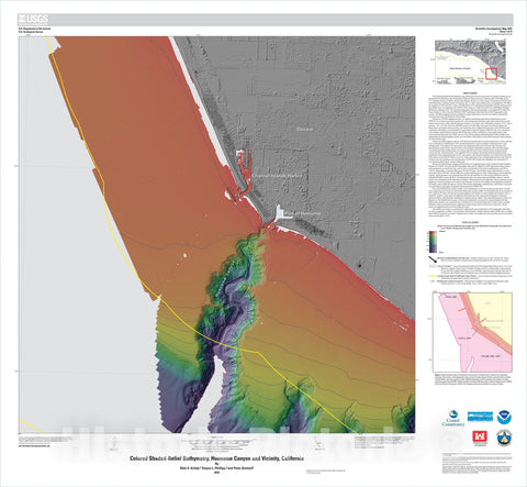 Map : California State Waters Map Series—Hueneme Canyon and vicinity, California, 2012 Cartography Wall Art :