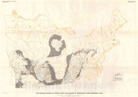 Map : Paleotectonic investigations of the Mississippian System in the United States, 1979 Cartography Wall Art :