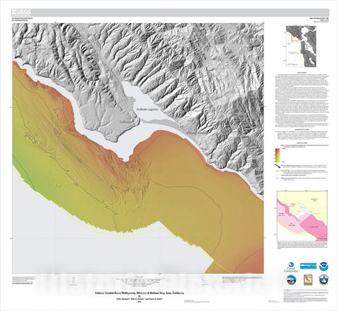 Map : California State Waters Map Series: offshore of Bolinas, California, 2015 Cartography Wall Art :