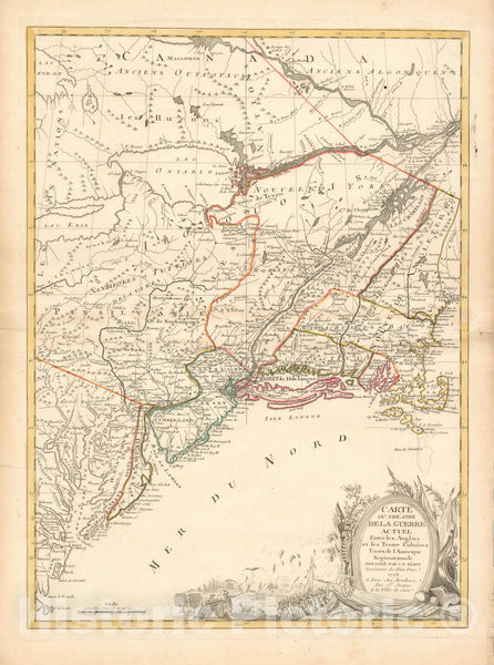 Historic Map : Eliot Revolutonary War Map, 1778, Vintage Wall Art