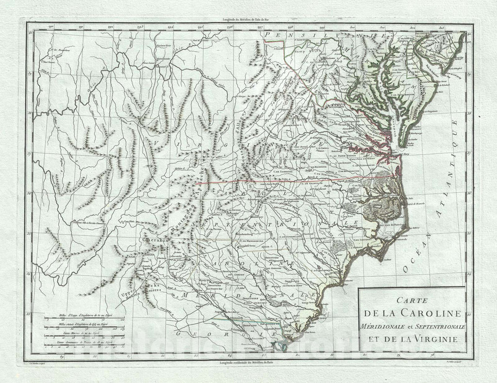 Historic Map : Map of, Tardieu, 1795, Vintage Wall Art