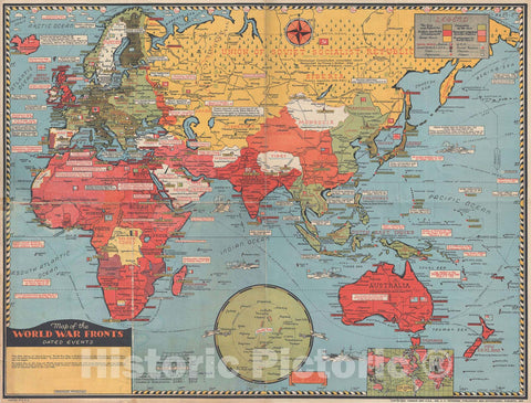 Historic Map : Europe, Africa, and Asia During World War II, Stanley Turner, 1943, Vintage Wall Art