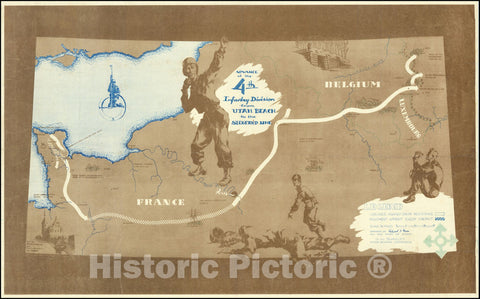 Historic Map : Liberation of Europe - World War II, 1945, Vintage Wall Art