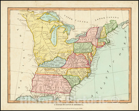 Historic Map : United States of America, 1797, 1797, Vintage Wall Art