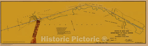 Historic Nautical Map - State Of New York Department Of Public Works Erie Canal, NY, 1923 NOAA Chart - Vintage Wall Art, v15