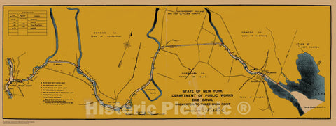 Historic Nautical Map - State Of New York Department Of Public Works Erie Canal, NY, 1923 NOAA Chart - Vintage Wall Art, v12