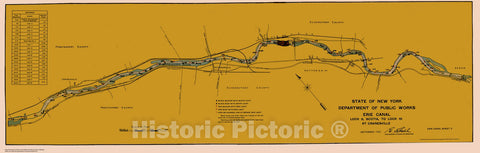 Historic Nautical Map - State Of New York Department Of Public Works Erie Canal, NY, 1923 NOAA Chart - Vintage Wall Art, v7