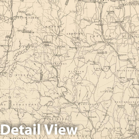 Historic Map : Vermont 1908 , Northeast U.S. State & City Maps , Vintage Wall Art