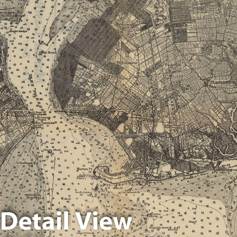 Historic Map : New York, Long Island & New York City 1908 Topographic Map , Nirenstein's Preferred Real Estate Locations of Business Properties , Vintage Wall Art