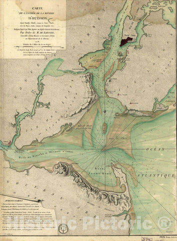 Historic Map : New York, Long Island & New York City 1778 Topographic Map , Nirenstein's Preferred Real Estate Locations of Business Properties , Vintage Wall Art