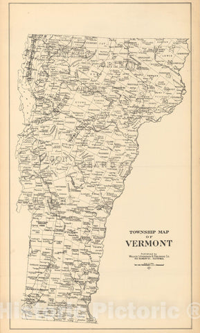 Historic Map : Vermont 1900 , Northeast U.S. State & City Maps , Vintage Wall Art