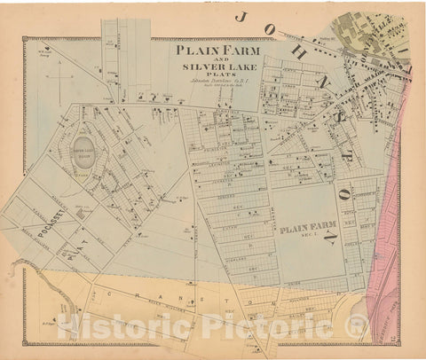 Historic Map : Atlas State of Rhode Island, Johnston 1870 , Vintage Wall Art