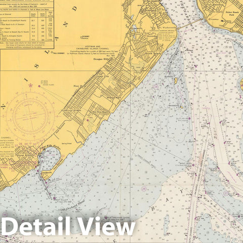 Historic Map : New York, New York Harbor 1968 Topographic Map , Nirenstein's National Preferred Real Estate Locations of Business Properties , Vintage Wall Art