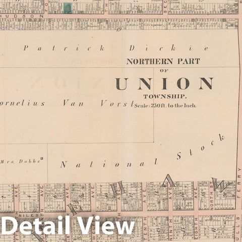 Historic Map : Combined Atlas State of New Jersey & The County of Hudson, Union 1873 Plate A , Vintage Wall Art