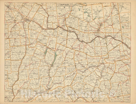 Historic Map : New York - Mohawk Section - 1900 , Northeast U.S. State & City Maps , Vintage Wall Art