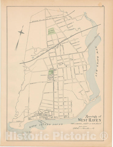 Historic Map : Orange 1893 , Town and City Atlas State of Connecticut , Vintage Wall Art