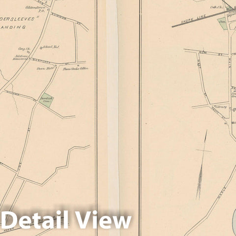 Historic Map : Old Saybrook & Portland 1893 , Town and City Atlas State of Connecticut , Vintage Wall Art