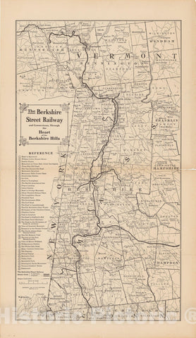 Historic Map : New York, Berkshire Street Railway 1909 , Nirenstein's National Preferred Real Estate Locations of Business Properties , Vintage Wall Art